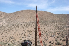 Coax removal on Line near Shack